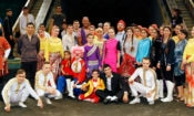 American circus experts together with Turkmen circus artists after the first joint circus performance at the Turkmen State Circus